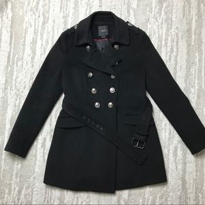 Forever 21 Black Trench Coat size Medium